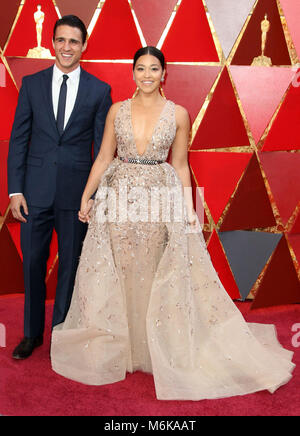 Hollywood, CA, USA. 5th Mar, 2018. Joe LoCicero, Gina Rodriguez. 90th Annual Academy Awards presented by the Academy - Stock Photo