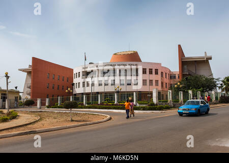 Bissau, Republic of Guinea-Bissau - January 28, 2018: View of the National People's Assembly (Assembleia Nacional - Stock Photo