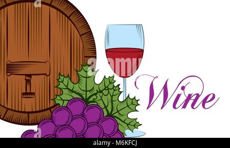 wine drink alcohol card - Stock Photo