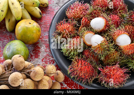 Colorful exotic fruit - Stock Photo