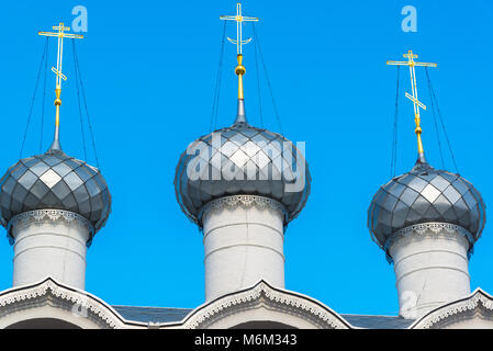 Belfry of Assumption Cathedral of Kremlin in Rostov Veliky, Russia - Stock Photo