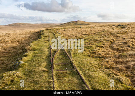 Rowtor Target Railway is a 24 in. narrow gauge military railway. It towed a target from behind an embankment. It - Stock Photo