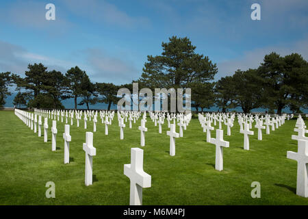 American military cemetery, colleville, normandy, france - Stock Photo