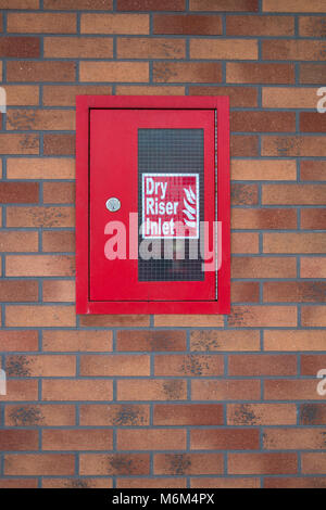 FIRE: Dry Riser Inlet - Stock Photo