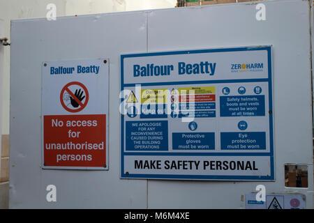 BALFOUR BEATTY: Workplace safety - Stock Photo