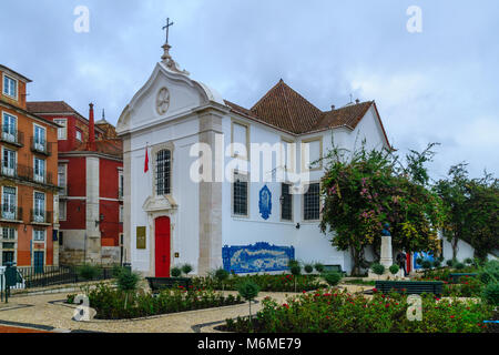 The Church of Santa Luzia, in Lisbon, Portugal - Stock Photo