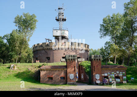 The Angel's Fort, from 1845-58, modeled on the Hadrian's mausoleum (today's Castel Sant'Angelo in Rome) .Swinoujscie, - Stock Photo