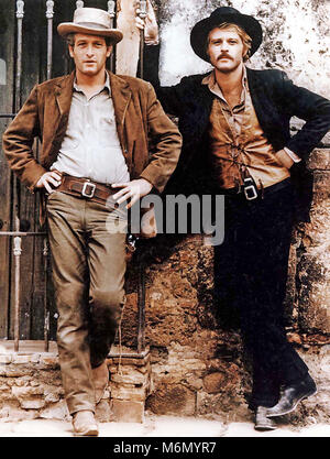BUTCH CASSIDY AND THE SUNDANCE KID 1969 Twentieth Century Fox film with Paul Newman at left and Robert Redford - Stock Photo