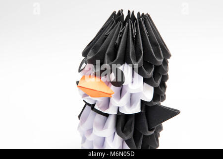 3d Origami Penguin Manchot Animal Stock Photo 176252762 Alamy