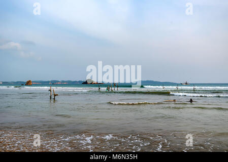 Sri Lanka coast on cloudy weather - Stock Photo