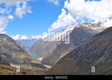 Punta Union in the Cordillera Blanca, Peru - Stock Photo