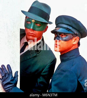 THE GREEN HORNET American ABC TV series1966-1967 WITH Van Williams as the masked Green Hornet Britt Reid and Bruce - Stock Photo