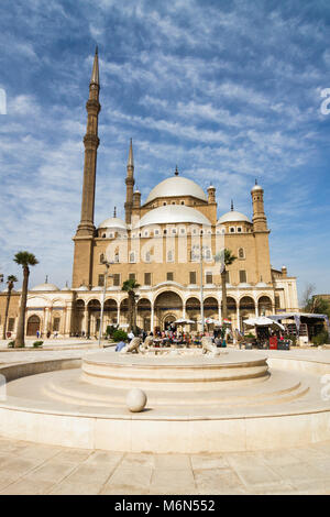 Mosque of Muhammad Ali or Alabaster Mosque in the Saladin Citadel of Cairo, Egypt - Stock Photo