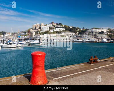 TORQUAY, UNITED KINGDOM - 7th of May 2016 - Summer at Torquay Harbour & Marina Devon England UK a popular tourist - Stock Photo