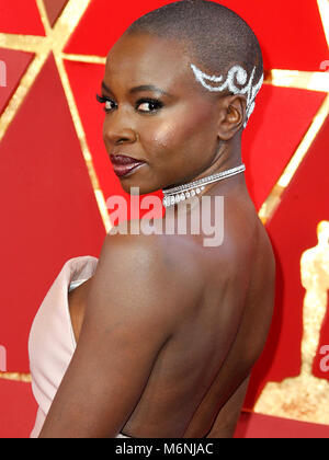 Hollywood, CA, USA. 5th Mar, 2018. 04 March 2018 - Hollywood, California - Danai Gurira. 90th Annual Academy Awards - Stock Photo