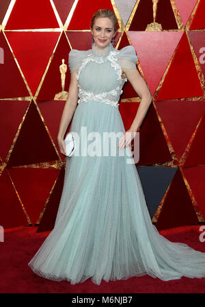 Hollywood, CA, USA. 5th Mar, 2018. 04 March 2018 - Hollywood, California - Emily Blunt. 90th Annual Academy Awards - Stock Photo