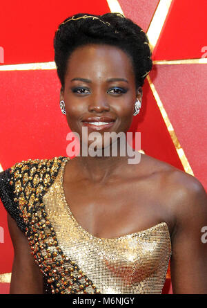 Hollywood, CA, USA. 5th Mar, 2018. 04 March 2018 - Hollywood, California - Lupita Nyong'o. 90th Annual Academy Awards - Stock Photo