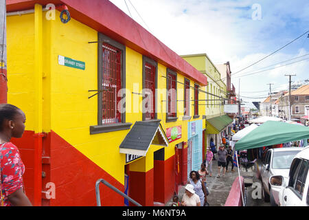 Friday market in St George's on the caribbean island of Grenada - Stock Photo