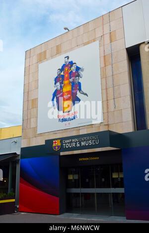 Museu FC Barcelona, Camp Nou, Barcelona, Catalonia, Spain - Stock Photo