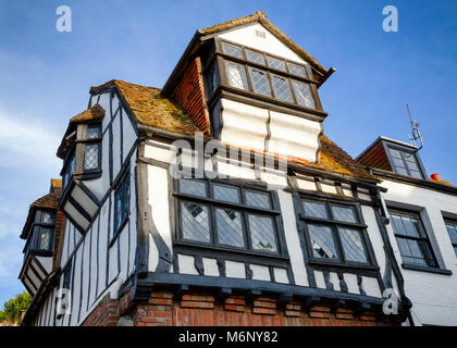 Traditional old English Tudor style timber-framed house in Hastings East Sussex  South East England UK - Stock Photo