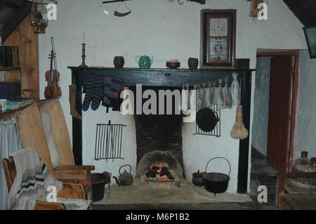 Croft House Museum, Shetland, Interior - Stock Photo