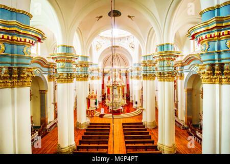 Detaail Inside view of Catedral de la Ciudad de Potosi - Stock Photo