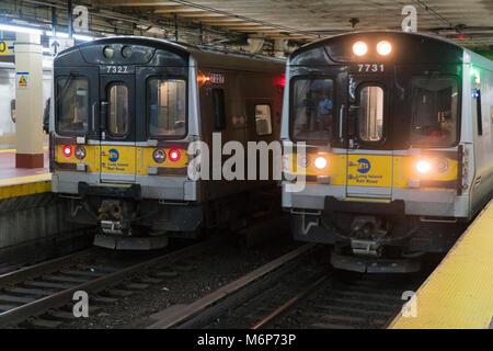 Long Island Railroad Train From Manhattan To Flushing Meadows