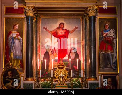 ROME, ITALY, JUNE 16, 2015 : interiors and architectural details of Santa Maria Sopra Minerva church, june 16, 2015 - Stock Photo