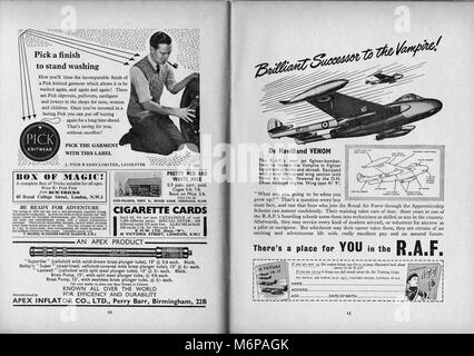 1950's adverts from the Boy's Own Paper. - Stock Photo