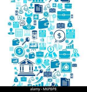 Seamless pattern of the business icons - Stock Photo