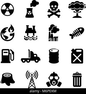 Pollution Icons - Stock Photo
