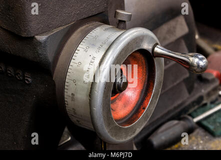 Vintage antique automotive machine shop - Stock Photo