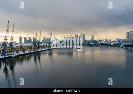 Royal Victoria Dock, London UK - Stock Photo
