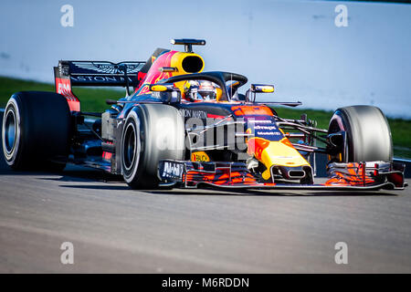 Montmelo, Catalonia, Spain. 6th Mar, 2018. Daniel Ricciardo, Red Bull F1 Team's driver seen during day 1 of the - Stock Photo