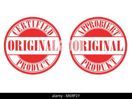 Design vector of stamp certified original product - Stock Photo