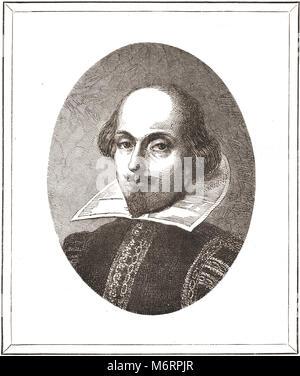 William Shakespeare, The Bard of Avon, 1564-1616 - Stock Photo