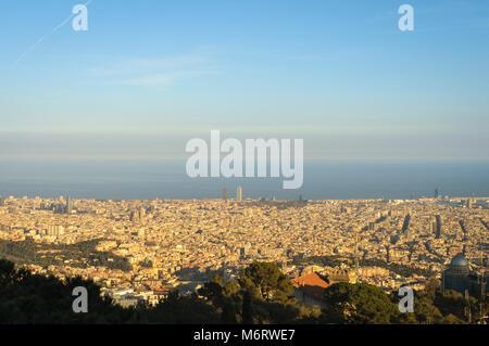 Barcelona Skyline - Stock Photo