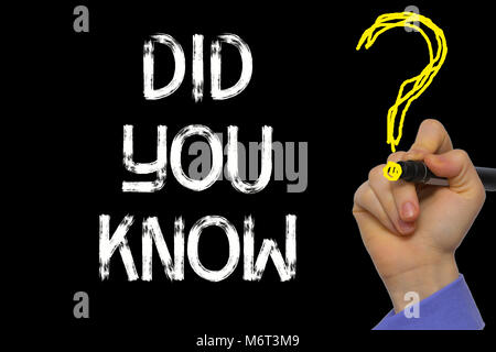 Hand writing the text: Did You Know? - Stock Photo