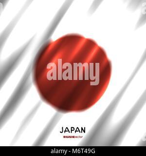 National Japan flag background - Stock Photo