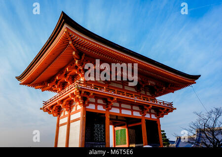 Kiyomizu-dera Temple Gate in Kyoto, Japan. - Stock Photo