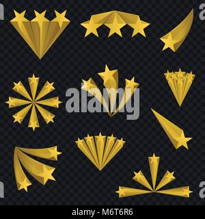 Golden star signs - Stock Photo