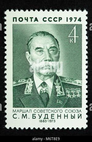 Soviet Union postage stamp - Stock Photo