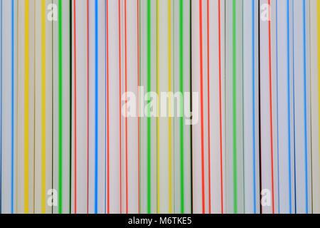 Non- biodegradable plastic drinking straws. - Stock Photo