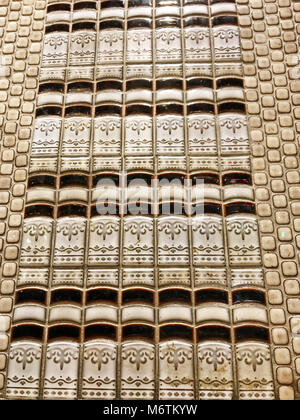 Square Tile, With Book Looking Tile, Off White - Stock Photo
