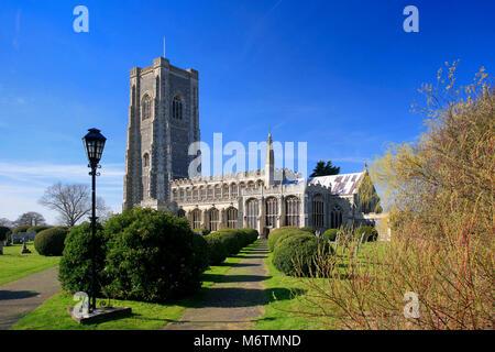 The parish church of St Peter and St Paul, Lavenham village, Suffolk County, England, UK - Stock Photo