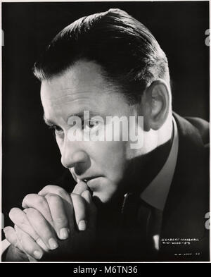 Herbert Marshall, Publicity Portrait for the Film, 'Foreign Correspondent', United Artists, 1940 - Stock Photo