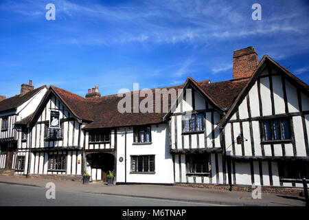 Exterior of the Swan Hotel, Lavenham village, Suffolk County, England, UK - Stock Photo