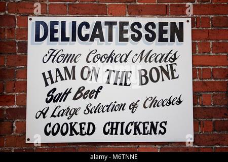 Tourist Information Sign, Lavenham village, Suffolk County, England, UK - Stock Photo