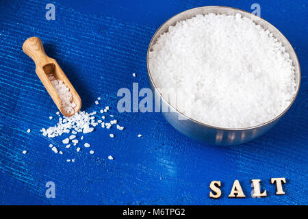 crystal salt. food concept photo - Stock Photo