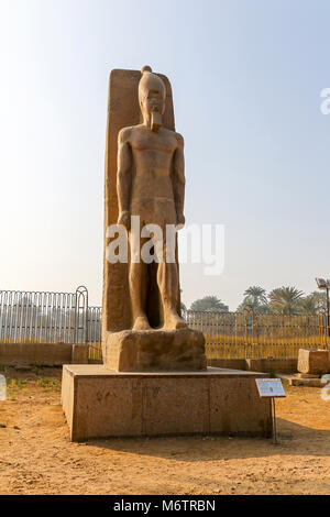 Statue of Pharaoh Ramesses II at Memphis, Egypt, North Africa - Stock Photo